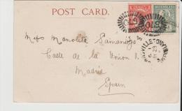 Qld002/ Townsville Nach  Spanien 1905, Ansichtskarte  Cairns-Herberton Railway Line - Briefe U. Dokumente
