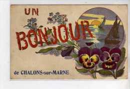 Un Bonjour De CHALONS SUR MARNE - Très Bon état - Châlons-sur-Marne