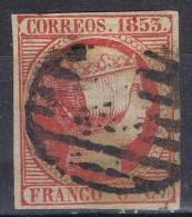 Sello 6 C 1853, Isabel II, VARIEDAD Impresion, Marco Roto, Num 17 º - 1850-68 Kingdom: Isabella II