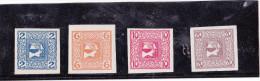 1908/10 ZEITUNGSMARKEN - SATZ  Gew�nliches Papier **