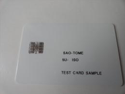 RARE : SAO - TOME  TEST CARD - São Tomé Und Príncipe