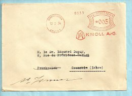 KNOLL A.G. Ludwigshafen Du 12/02/1934. (P6745) - Marcofilia - EMA ( Maquina De Huellas A Franquear)