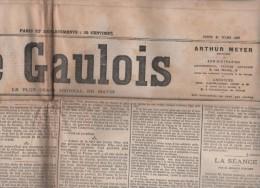 LE GAULOIS 21 03 1907 - GUERRE OU PAIX ? - PIECE PARIS NEW-YORK - Mgr MONTAGNINI - DOUMA RUSSIE - TOULON - SENAT ...