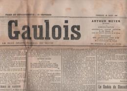 LE GAULOIS 22 03 1907 - JULES LEMAITRE ET ROUSSEAU - MORGUE - AMBASSADEUR US HENRY WHITE - PALAIS BOURBON - ROUMANIE -