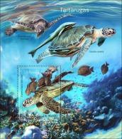 st14319b S.Tome Principe 2014 Turtles Fish s/s