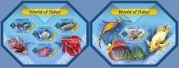 slm14404ab Solomon Is. 2014 World of Fishs 2 s/s Fish