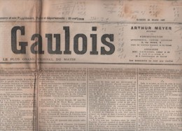 LE GAULOIS 23 03 1907 - IMPOTS CELIBATAIRES - PRESSE ALLEMANDE - COUP DE JARNAC - LIGUE PATRIOTIQUE DES FRANCAISES
