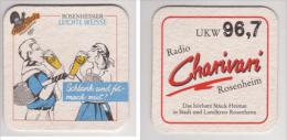 Auer Bräu Rosenheim , Radio Charivari UKW 96,7 - Leichte Weisse - Bierdeckel