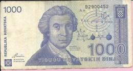 Banknotes - 1000 HRD, Zagreb, 1991., Croatia - Croatia