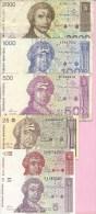 Banknotes - Lot - 5, 10, 25, 500, 1000, 2000 HRD, Croatia - Croatia