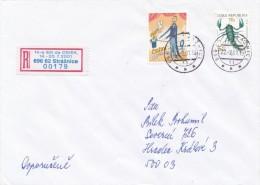 Czech Rep. / Occasional R- Label (2001/05) 696 62 Straznice: 14th International Esperanto Conference (I7786) - Esperanto