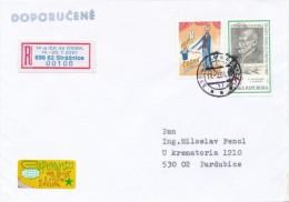 Czech Rep. / Occasional R- Label (2001/05) 696 62 Straznice: 14th International Esperanto Conference (I7787) - Esperanto