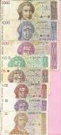 Banknotes - Lot - 1, 5, 10, 25, 100, 500, 1000, 2000 HRD, Croatia - Croatia