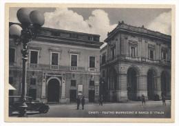 Chieti - Teatro Marrucino E Banca D´Italia - H1928 - Chieti