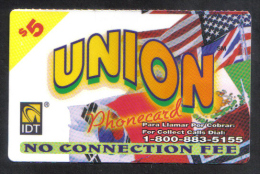 UNITED STATES - IDT PHONECARD  (  UNION  PHONECARD ) USED  2005 - Unclassified