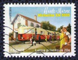 France 2014 Oblitéré Used Patrimoine Des Trains Haute Marne Locomotive Micheline XM 5005 Y&T 1002 - Francia