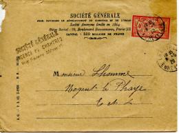 Lettre 1920 Chartres (28) Pour Nogent Le Phaye (28) Merson - Francia