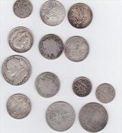 lot de 13 x monnaies argent  divers voir scan