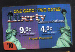 UNITED STATES - LIBERTY PHONECARD  ( ONE CARD TWO RATES PHONECARD ) USED 1990s - Vereinigte Staaten