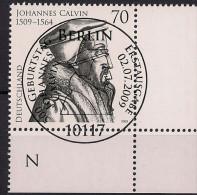 2009 Allem. Fed. Deutschland  Mi. 2744 FD-used Berlin . 500. Geburtstag Von Johannes Calvin - Gebraucht