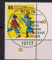 2009 Allem. Fed. Deutschland  Mi. 2739 FD-used Berlin  200. Geburtstag Von Heinrich Hoffmann - Gebraucht