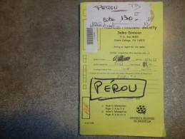 PEROU - CARNET DE CORRESPONDANCE -  TIMBRES OBLITERES & NEUFS - TB - - Peru