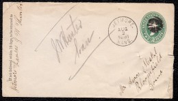 Prestamped Opened COVER 1881 - JETMORE KANSAS To BLOOMFIELD - Nice Oblit. Both Sides