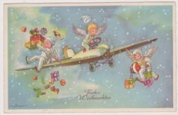 Frohe Weihnachten, Luftwaffen-Engel, Flieger, Pilot, Feldpost Nummer 25932, Cranzahl, WWII