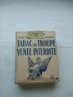 Paquet  Vide De Tabac De Troupe Algérie - Vente Interdite - Etuis à Cigarettes Vides