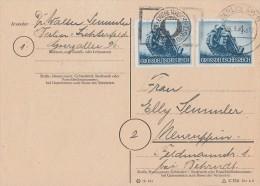 DR Karte Mef Minr.2x 874 Gel. Von Berlin Am 6.3.45 Nach Neuruppin  Späte Verwendung !!!!!!!!!! - Briefe U. Dokumente