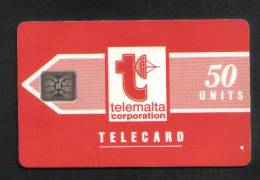 MALTA - 50 USED  PHONECARD NO VALUE 1991 - CHIP SI-5 ( BATCH NO.5 DIGITS IMPRESSED ) GLOSSY  RARE  - - Malta