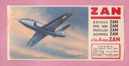 Buvard Buvards, Avion Réaction FIATG.80 1B De ZAN Pastilles Gommes Petits Pains Batons - Cake & Candy