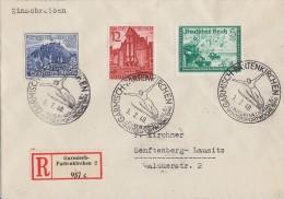 DR R-Brief Mif Minr.704,715,737 SST Garmisch-Partenkirchen 3.2.40 - Briefe U. Dokumente