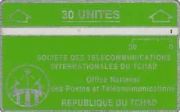 CHAD(L&G) - Telecom Logo Green 30 Units, CN : 004C, Tirage 12000, Used - Chad
