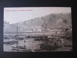 CPA ESPAGNE (K20) MALAGA (2 Vues) El Puerto Y El Castillo De Gibralfaro - Málaga