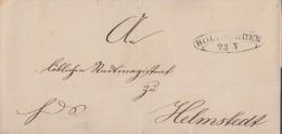 Brief Holzminden 23.7. Schnallenstempel Gel. Nach Helmstedt - Braunschweig