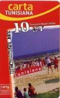 @+ Tunisie - Carte Tunisiana - Beach-Volley - 10 Dinars - Tunisie