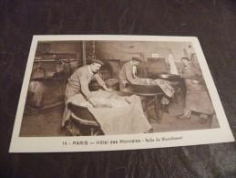 A200.CPA...75..PARIS..Hôtel Des Monnaies..Salle De Blanchiment.....rare Beau Plan Animé..non Ecrite - Artisanry In Paris