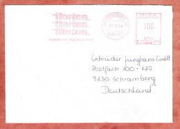 Brief, Francotyp-Postalia B23-4079, Horten, 100 Pfg, Mannheim 1989 (61042) - BRD