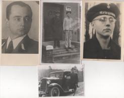 1 AK 3 Foto Vater Sohn Familie August Herrmann ? Chribska Kreibitz ? Kriegsmarine Wohnhaus M3 Marine Militär Offizier ? - Genealogie