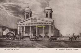 CPA ARGENTINE ARGENTINA MITCHELL'S BUENOS AIRES ** SAN JOSE DE FLORES 1840 ST JOSEPH'S CHURCH FLORES - Argentine