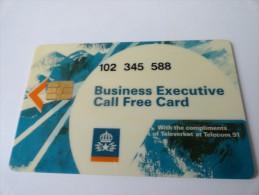 RARE :  BUSINESS EXECUTIVE CALL FREE CARD - Schweden