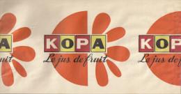 Chapeau Publicitaire En Papier  Jus De Fruit KOPA - Casquettes & Bobs