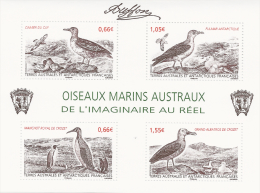 French Antarctic (FSAT), Birds By Buffon, 2014, MNH VF Souvenir Sheet Of 4 - French Southern And Antarctic Territories (TAAF)