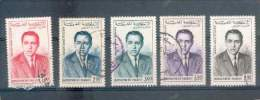 MAROC POSTE AERIENNE ROI HASSAN II N° 106/110 OB SERIE COMPLETE   TB - Morocco (1956-...)