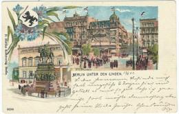 CARTOLINA – 1899 – Postkarte – Carte Postale – Berlin Unter Den Linden  - Viaggiata Da Charlo... - Mitte