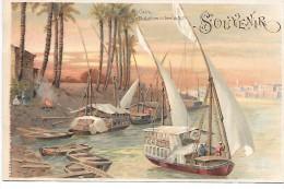 EGYPTE -  Le Caire, Dhahabiyes Au Bord Du Nil - Egypt