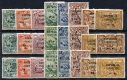 CAPE VERDE 1913 Vasco De Gama Ovptd Stamps - Yv.113-136 (Mi.113-136, Sc.112-135) MH (all VF) - Isola Di Capo Verde