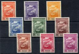 MACAU (Macao) Air Post 1938 - Yv.A7-15 (Mi.317-325, Sc.C7-15) MH (perfect) All VF - Posta Aerea