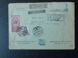 Timbres De Russie URSS Sur Lettre Recommandée Par Avion à Destination De Coueron - France - 1923-1991 URSS